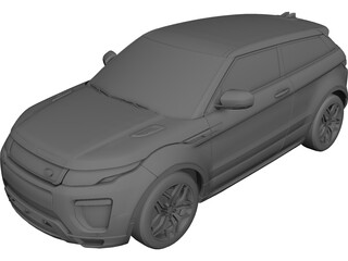 Land Rover Evoque (2018) 3D Model