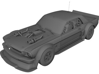 Ford Mustang Hoonicorn (1965) 3D Model