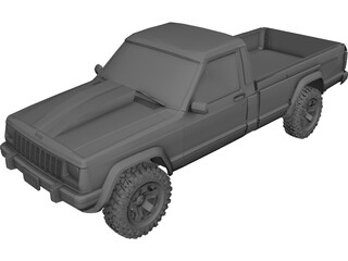 Jeep Comanche (1988) 3D Model