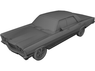 Ford Landau (1980) 3D Model 3D Preview