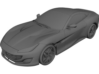 Ferrari Portofino (2018) 3D Model 3D Preview