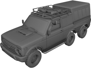 Lada Niva Urban 6x6 3D Model