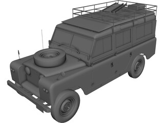 Land Rover Series IIa Station Wagon (1967) 3D Model