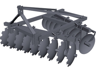 Disc Harrow CAD 3D Model