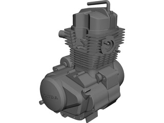 Honda 150 Engine CAD 3D Model
