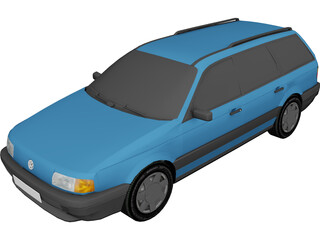 Volkswagen Passat B3 Variant (1988) 3D Model 3D Preview
