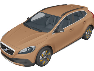 Volvo V40 Cross Country (2013) 3D Model 3D Preview