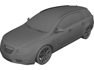 Opel Insignia Wagon 3D Model