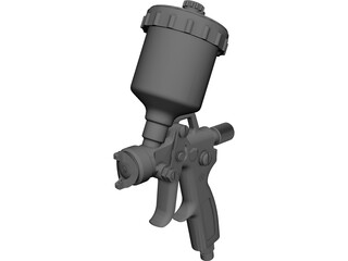 HVLP Spray Gun Top Feed CAD 3D Model