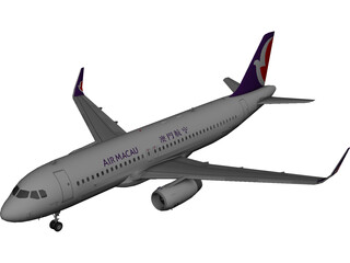 Airbus A321 Air Macau 3D Model