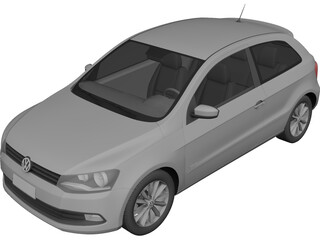 Volkswagen Polo (2013) 3D Model