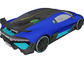 Bugatti Divo (2019) 3D Model 3D Preview