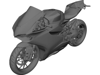 Ducati Panigale 1299 3D Model 3D Preview