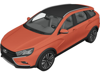 Lada Vesta Cross (2015) 3D Model