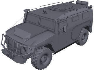 Gaz 2975 Tigr 3D Model 3D Preview