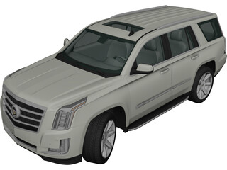 Cadillac Escalade ESV Platinum (2015) 3D Model