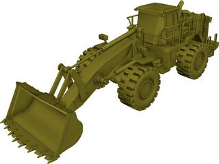 Caterpillar 988H Wheel Loader CAD 3D Model