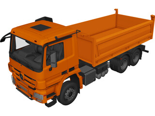 Mercedes-Benz Dump Truck 3D Model 3D Preview