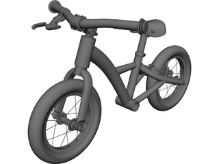 Kids 12inch Balance Bike CAD 3D Model