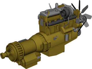 Caterpillar C15 Diesel Engine 3D Model