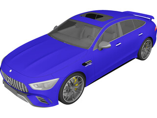 Mercedes-AMG GT 63 S 4MATIC+ 4-Door Coupe (2019) 3D Model