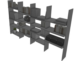 Storage Library 3D Model