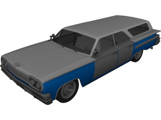 Chevrolet Impala Wagon (1958) 3D Model