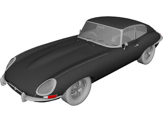 Jaguar E-Type (1963) 3D Model