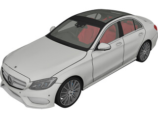Mercedes-Benz C350 AMG (2017) 3D Model 3D Preview