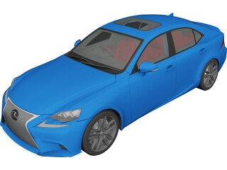 Lexus IS350 F Sport (2014) 3D Model