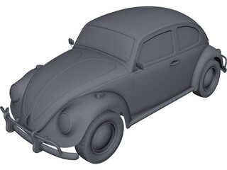Volkswagen Beetle (1963) CAD 3D Model