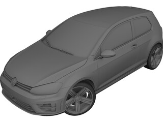 Volkswagen Golf R (2014) 3D Model