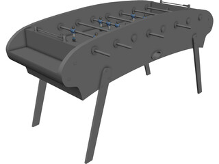 Table Football 3D Model