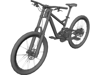 Downhill Bike 3D Model 3D Preview