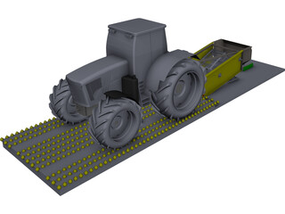 Onion Harvester CAD 3D Model