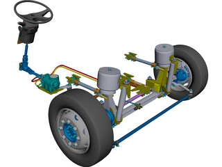 Front Axle Bus CAD 3D Model
