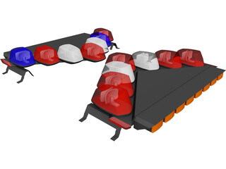 Vector Lightbar 3D Model
