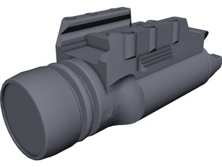 Surefire x200 Light CAD 3D Model