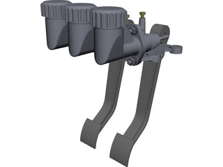Wilwood 340828 Forward Mount Car Pedals CAD 3D Model