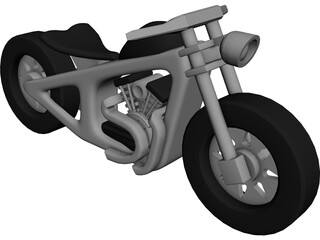 Wood Moto Kids 3D Model
