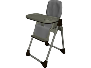 Baby High Chair 3D Model
