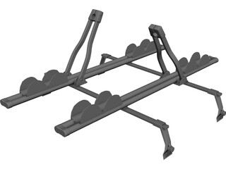 Thule Ride Roof Rack 3D Model