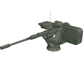 Remote Weapon Station CAD 3D Model