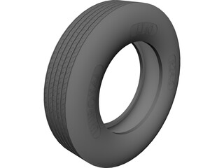 Tire Uniroyal LT40 11 R24.5 CAD 3D Model
