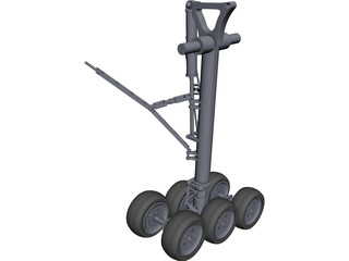 Boeing 777 Main Landing Gear CAD 3D Model