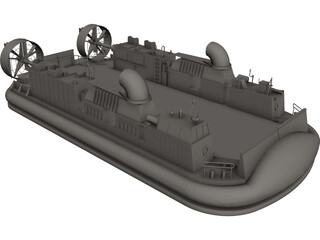 LCAC Hovercraft CAD 3D Model