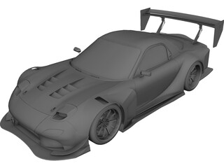 Mazda RX7 FD3S Time Attack 3D Model