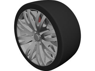 Racing Car Sports Wheel Rim CAD 3D Model