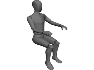 Ergonomic Man CAD 3D Model