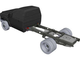 Ford F-550 Chassis CAD 3D Model